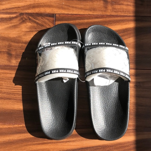 PINK Victoria's Secret Shoes - VSPINK clear slides small